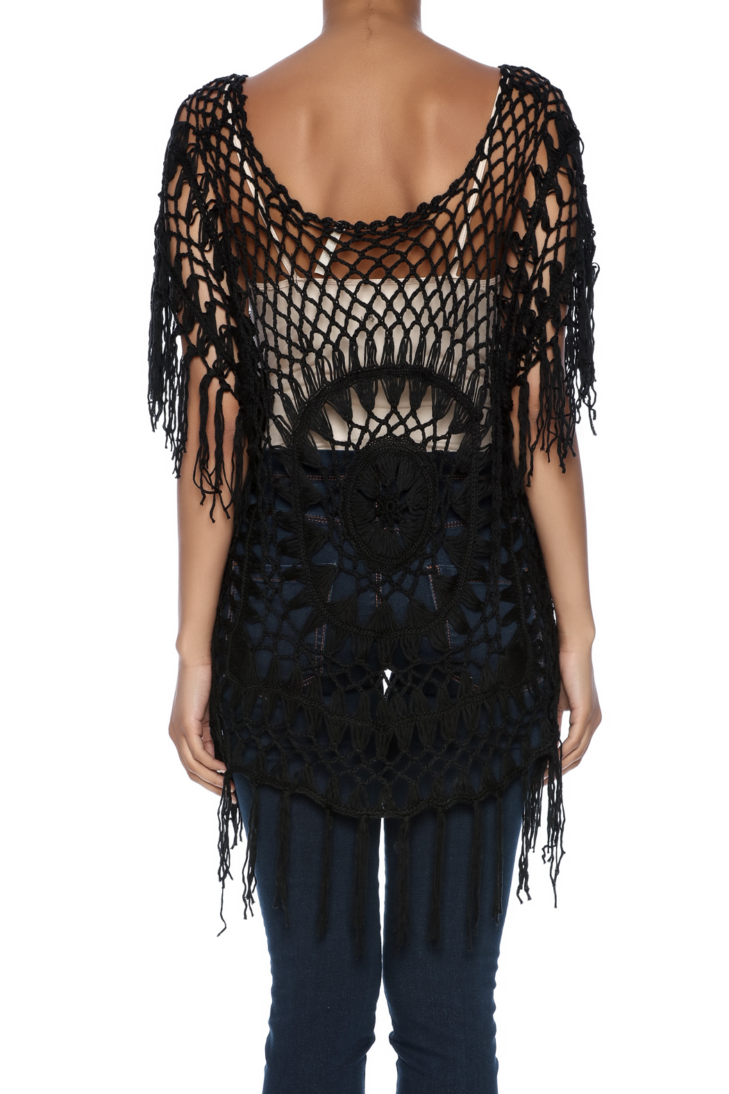 India Boutique Exquisite Crochet Top - Back Cropped Image