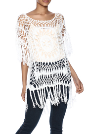 India Boutique Exquisite Crochet Top - Front cropped
