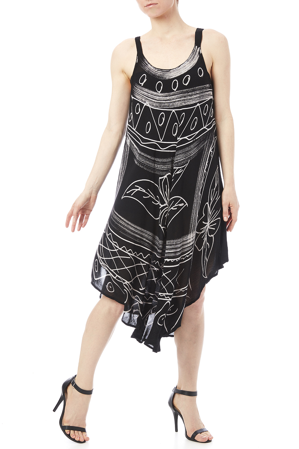 India Boutique Flowing Summer Dress - Main Image