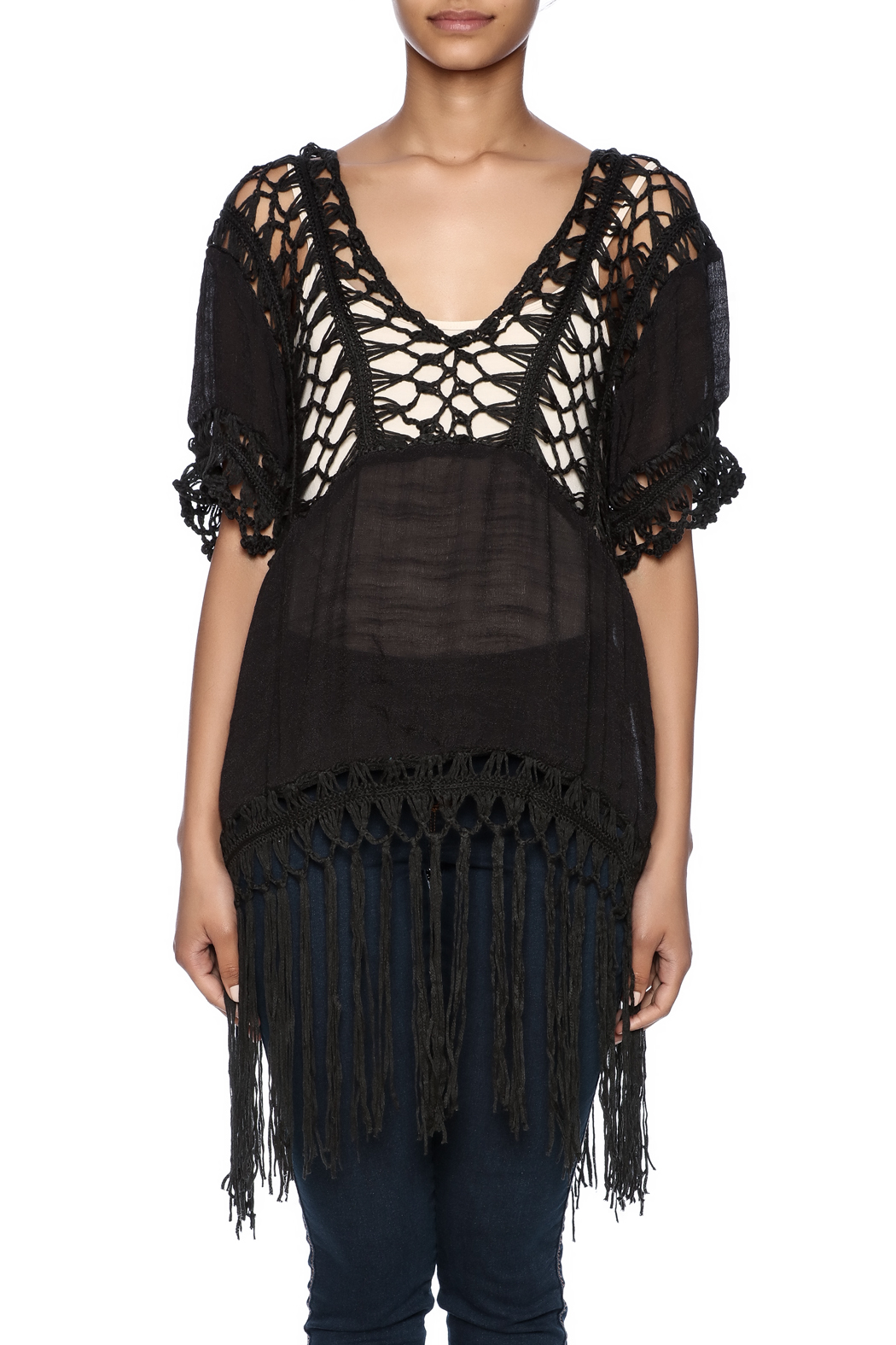 India Boutique Sexy Crochet Top - Side Cropped Image