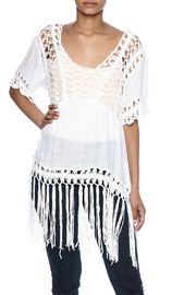 India Boutique Sexy Crochet Top - Front cropped