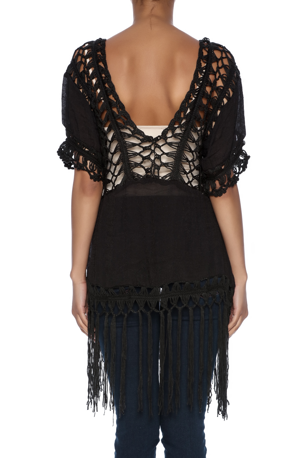 India Boutique Sexy Crochet Top - Back Cropped Image