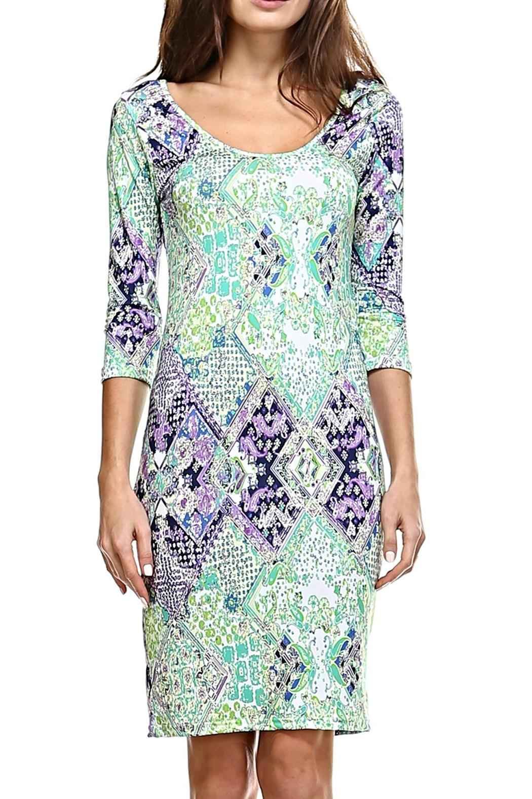 Jean-Pierre Klifa  India Pattern Dress - Front Cropped Image