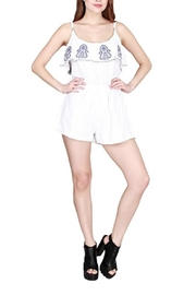 India Boutique Embroidery Romper - Product Mini Image