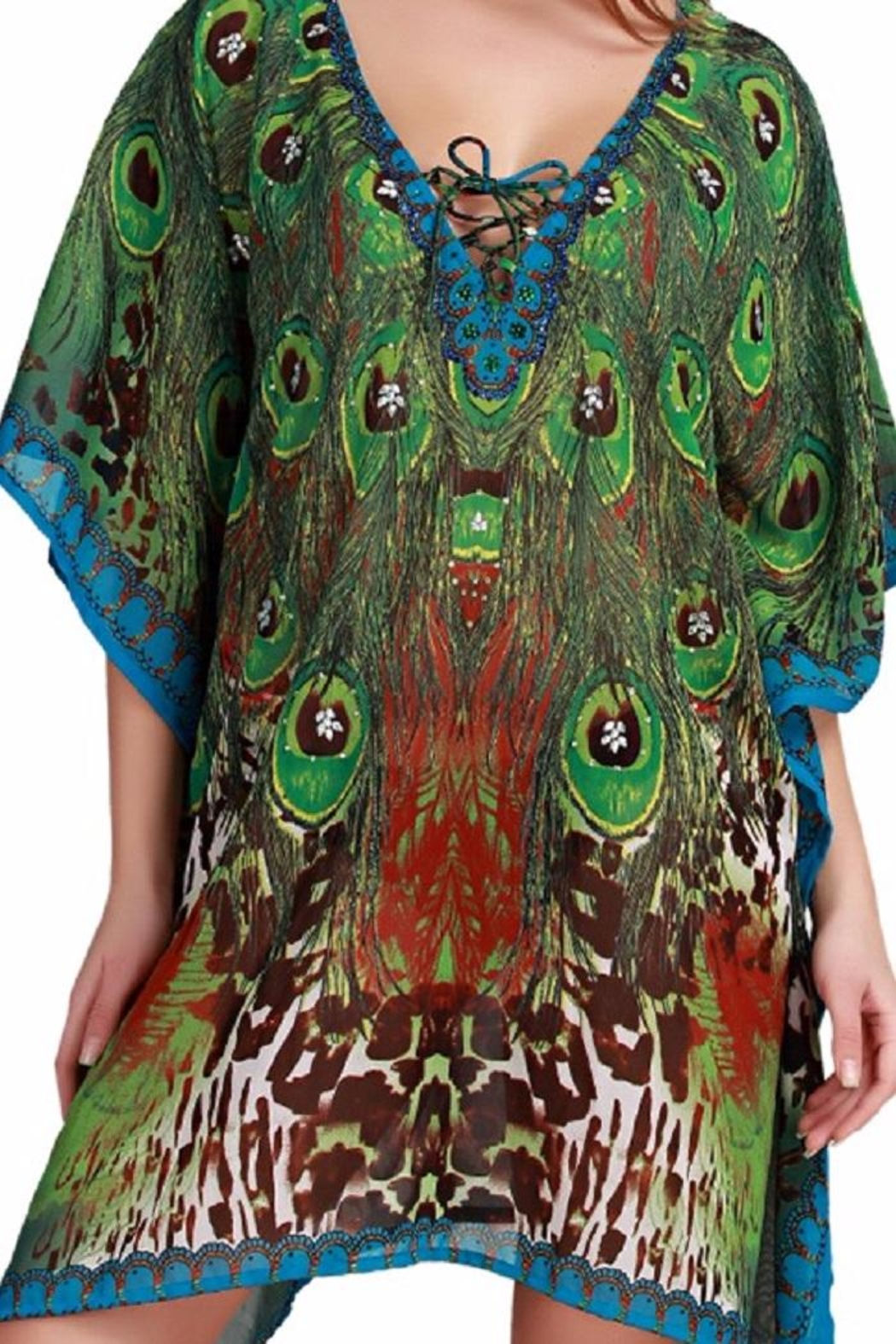 India Boutique Peacock Cover Up - Main Image