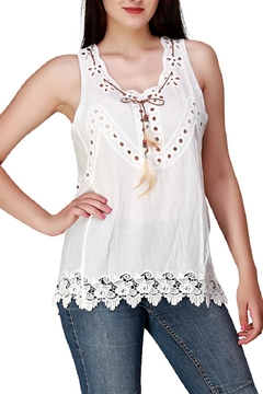 India Boutique White Boho Top - Product List Image