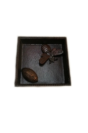 India Handicrafts Bronze Napkin Holder - Front cropped