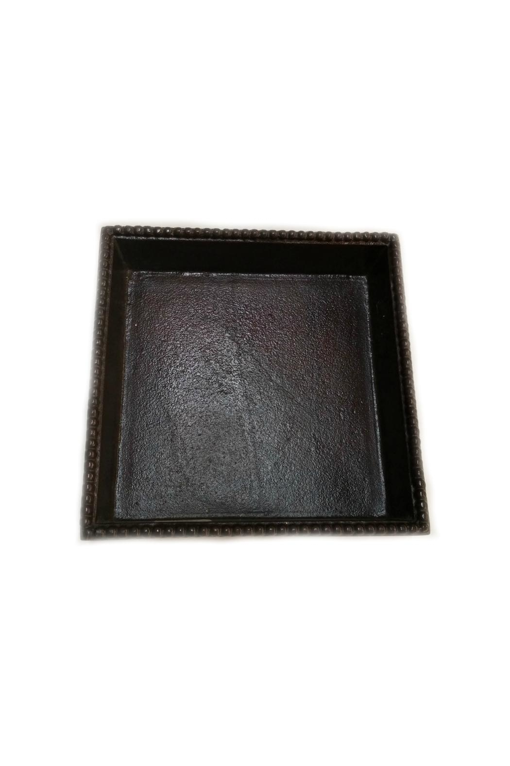 India Handicrafts Bronze Napkin Holder - Front Full Image