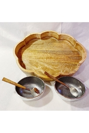 India Handicrafts Wooden Bowl Set - Front cropped