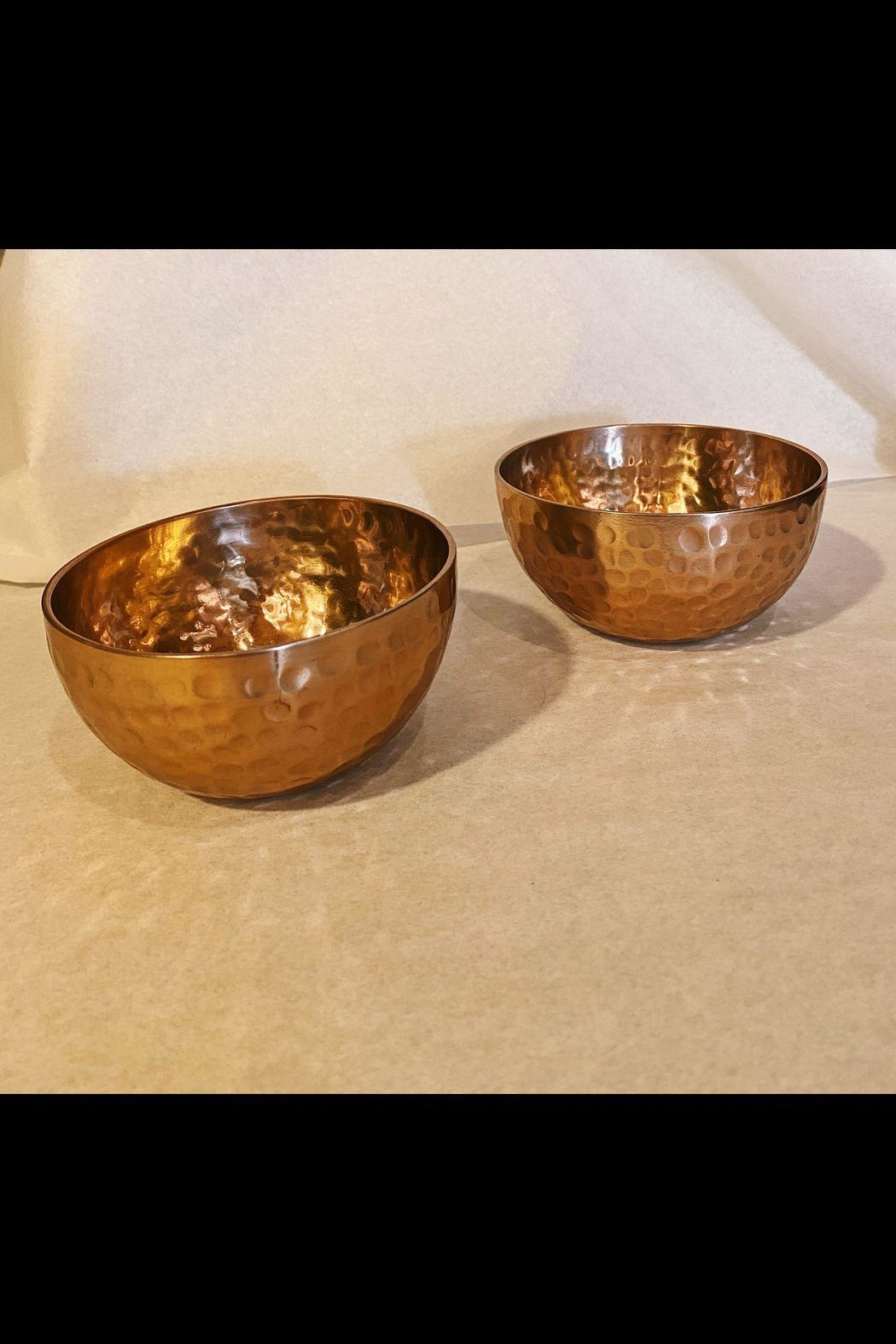 India Handicrafts Copper Hammered Bowl - Main Image