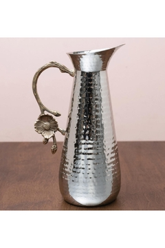 India Handicrafts Flower Hammered Pitcher - Alternate List Image