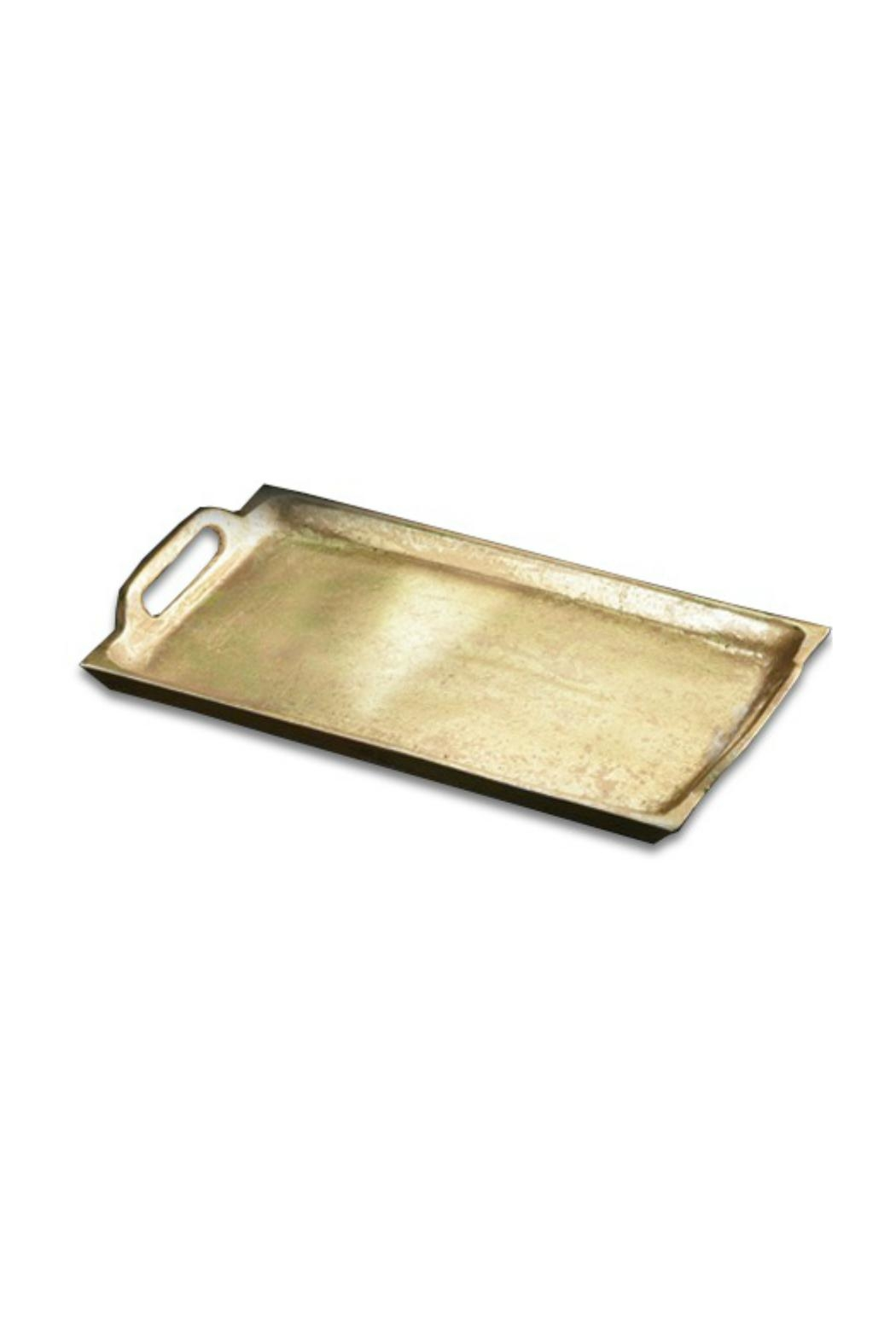 India Handicrafts Gilded-Tray With Handles - Main Image