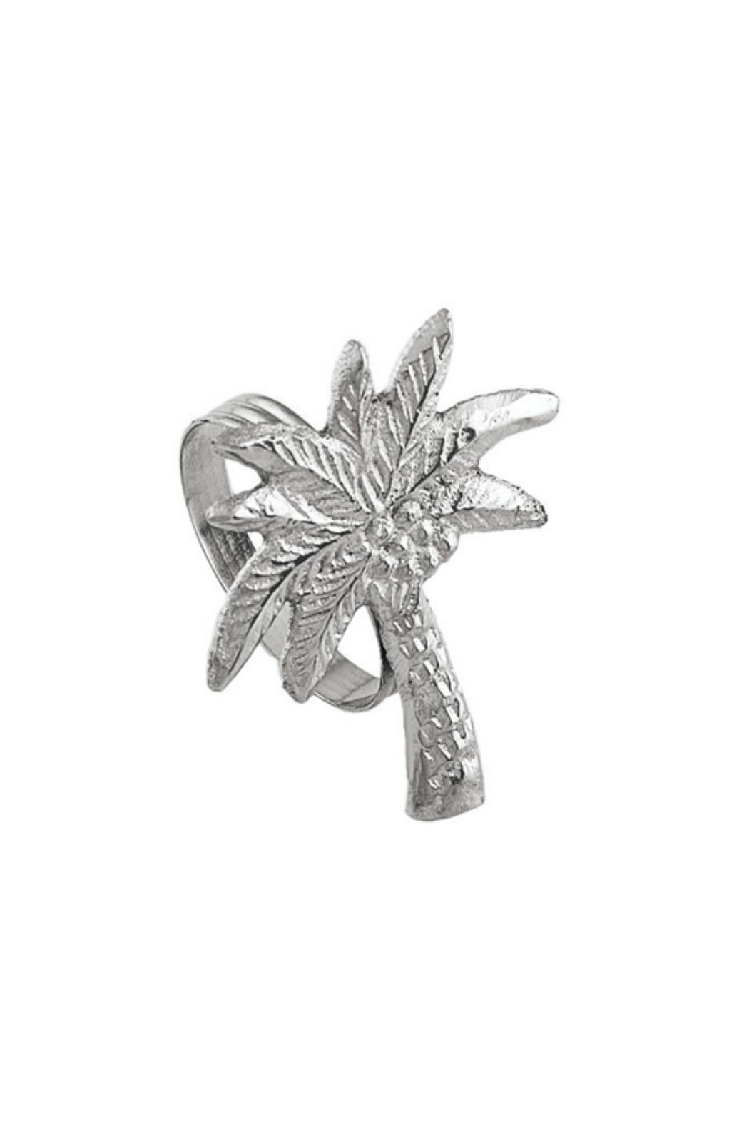 India Handicrafts Palm Tree Napkin Ring - Front Cropped Image