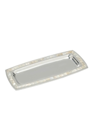 India Handicrafts Pearl Trim Tray - Product Mini Image