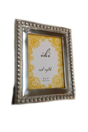 India Handicrafts Silver Beaded Frame - Front cropped