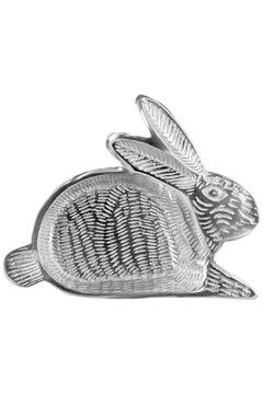 India Handicrafts Small Rabbit Metal Tray - Alternate List Image