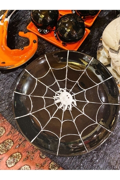 India Handicrafts Spider Web Plate - Alternate List Image