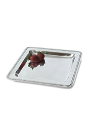 India Handicrafts Square Beade Tray - Front cropped
