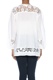Indian Tropical Comfortable White Blouse - Back cropped
