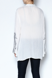 Indian Tropical Embroidered Tassel Tunic - Back cropped