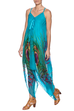 Indian Tropical Fabulous Peacock Dress - Product List Image
