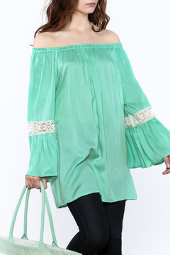 Indian Tropical Mint Off-Shoulder Top - Product List Image