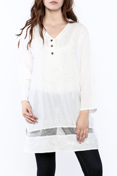 Shoptiques Product: Sheer Embroidered Tunic Top
