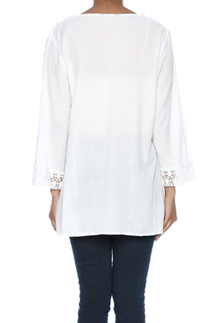 Indian Tropical Wonderful White Blouse - Alternate List Image
