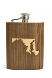 Autumn Summer Indiana Top Shelf Flask - Front cropped
