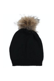 Virginia Wolf INDIE FAUX FUR POM POM HAT - Front full body
