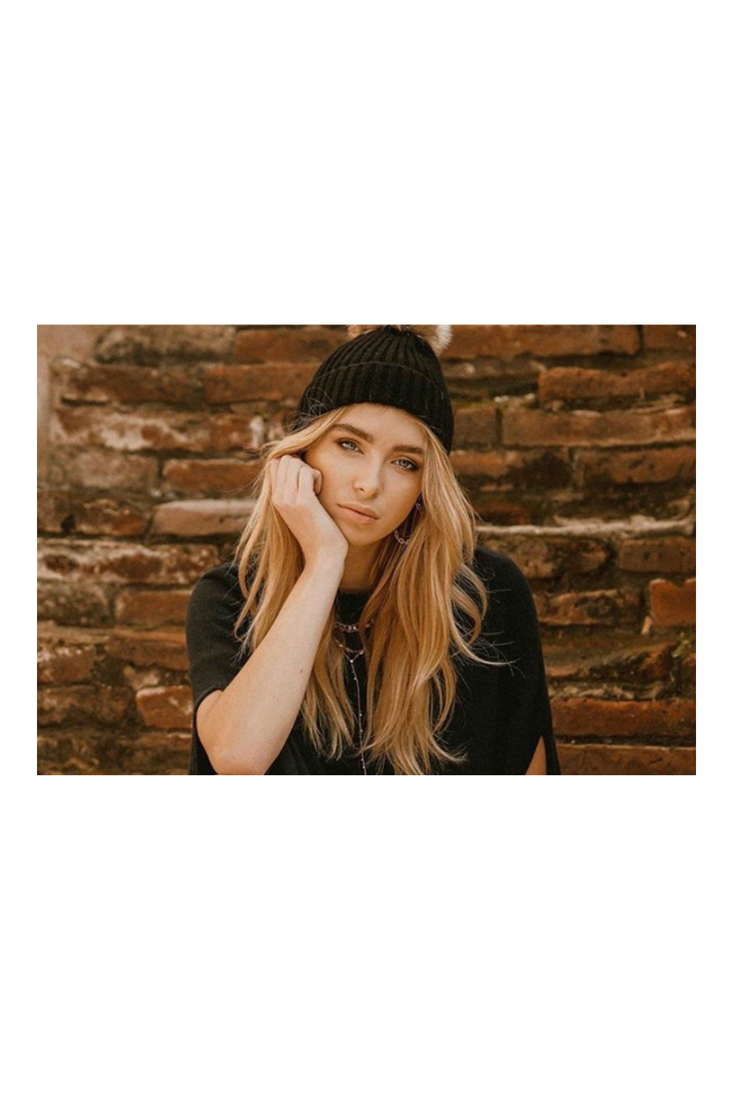 Virginia Wolf INDIE FAUX FUR POM POM HAT - Side Cropped Image