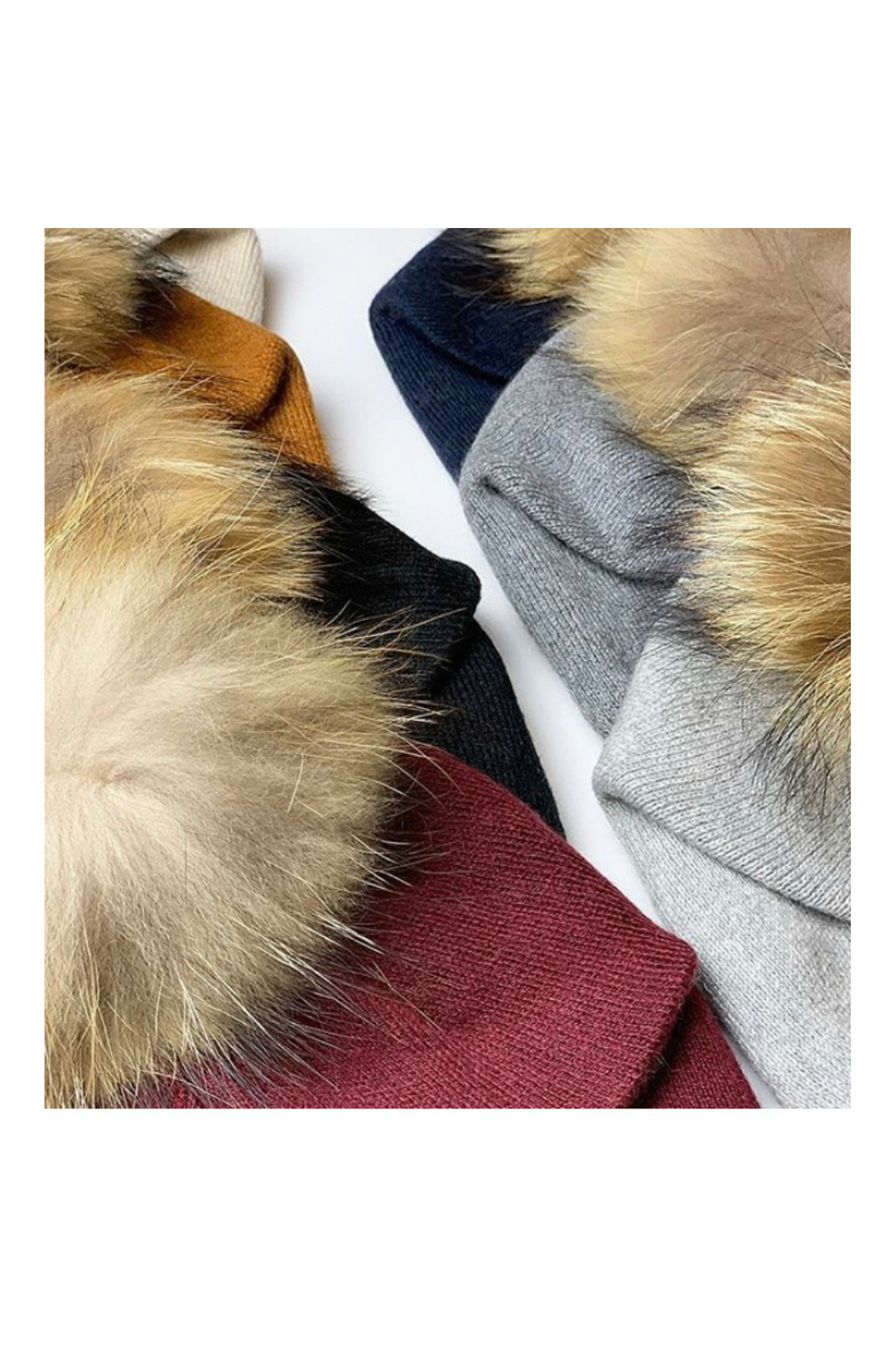 Virginia Wolf INDIE FAUX FUR POM POM HAT - Back Cropped Image
