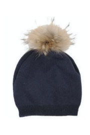Virginia Wolf INDIE FAUX FUR POM POM HAT - Product Mini Image
