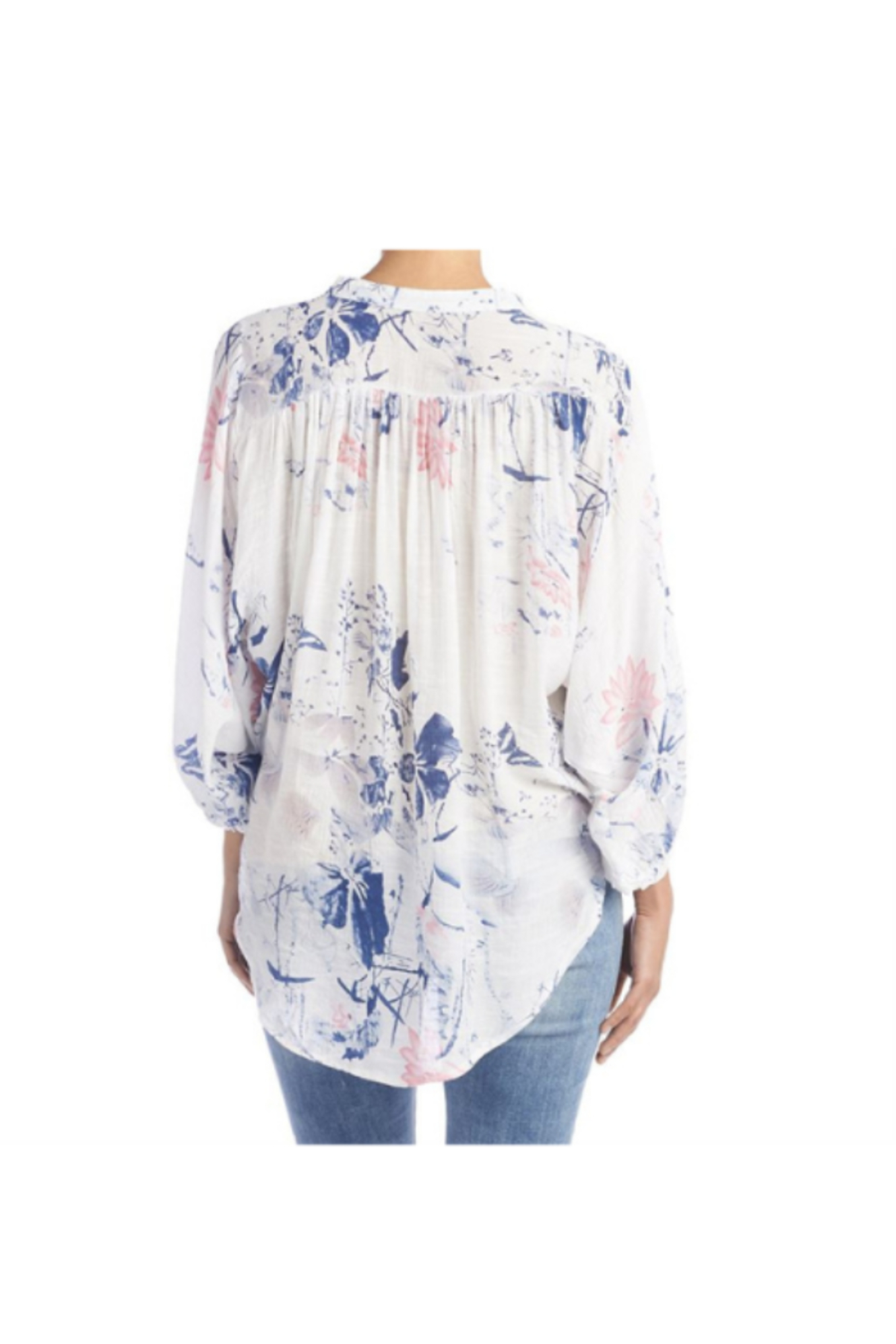 CoCo and Carmen  INDIE FLORAL BALLOON SLEEVE BLOUSE - Back Cropped Image