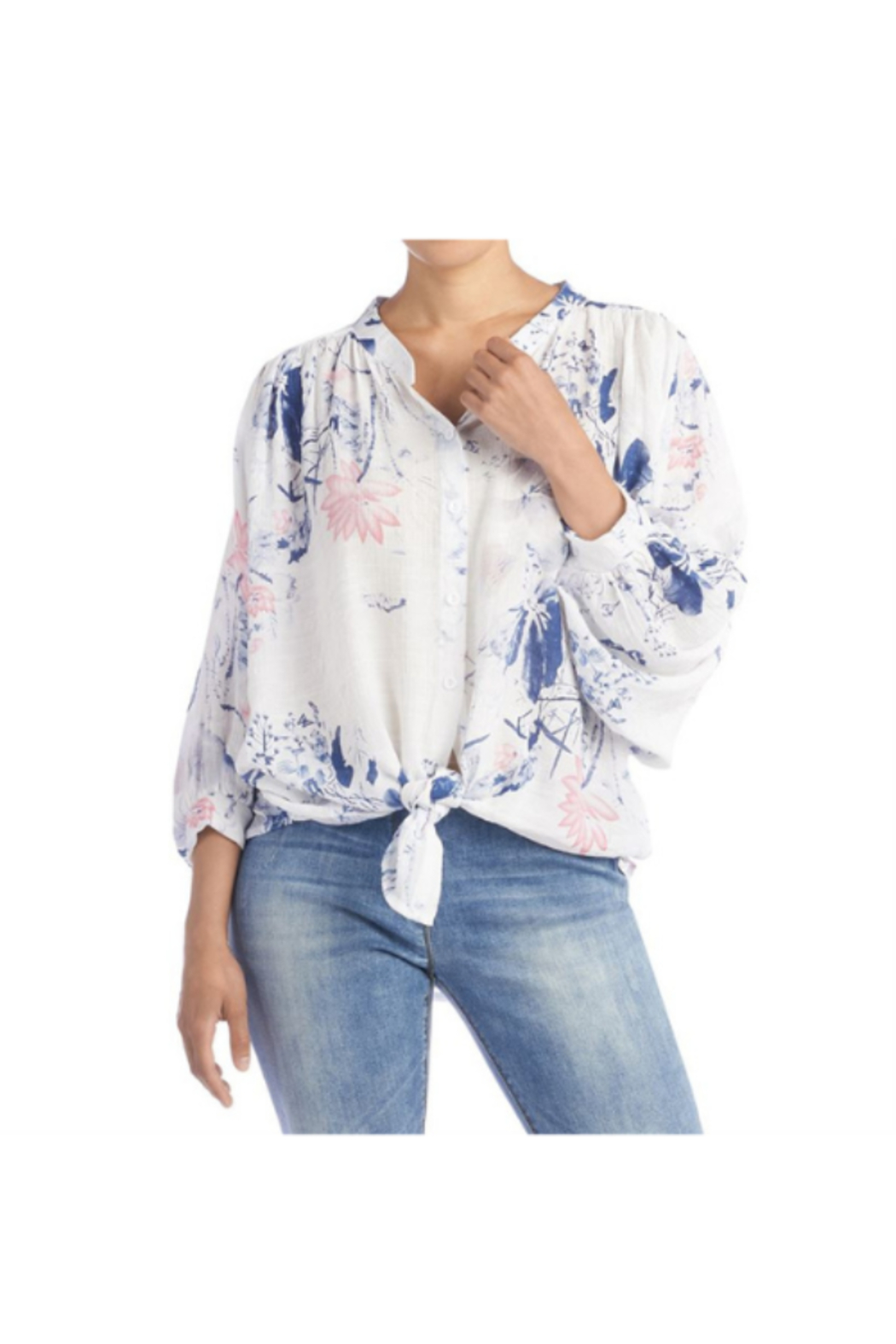 CoCo and Carmen  INDIE FLORAL BALLOON SLEEVE BLOUSE - Main Image