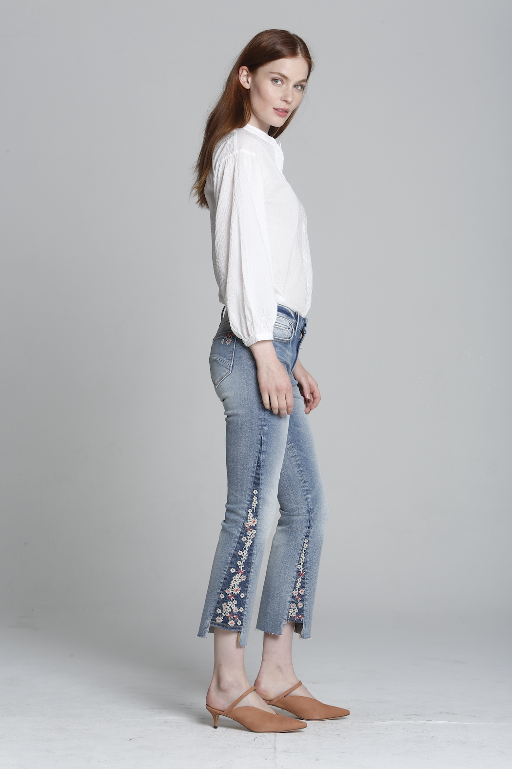 Driftwood Indie X Berry Jam Embroidered Jeans - Side Cropped Image