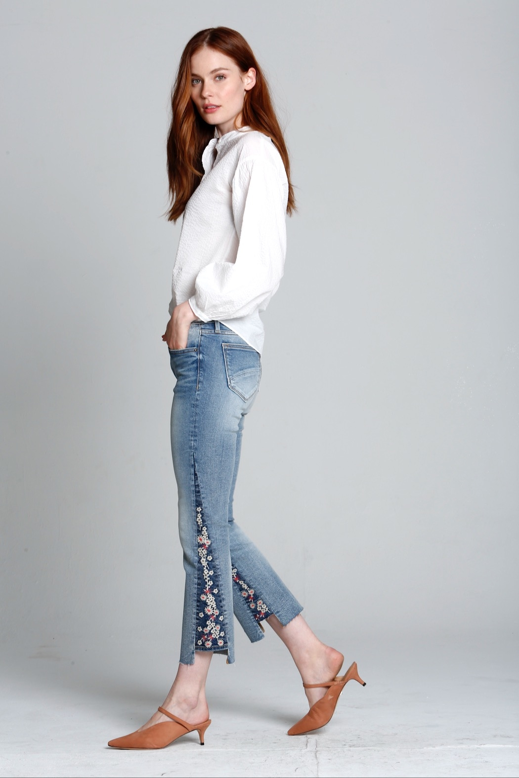 Driftwood Indie X Berry Jam Embroidered Jeans - Main Image