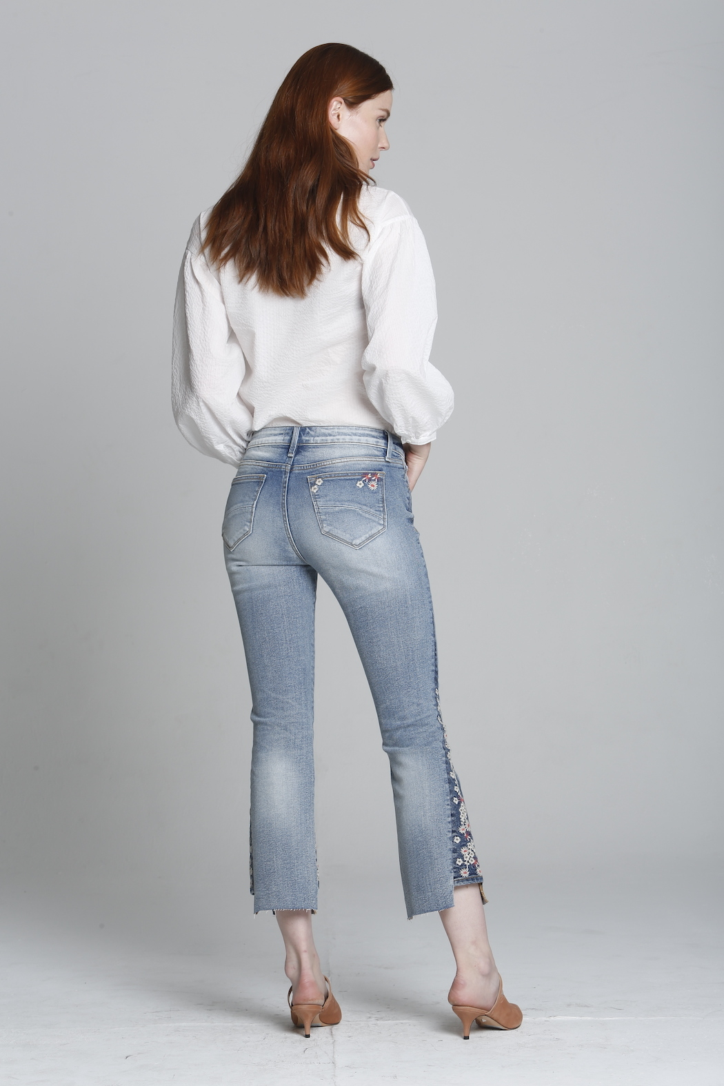 Driftwood Indie X Berry Jam Embroidered Jeans - Front Full Image