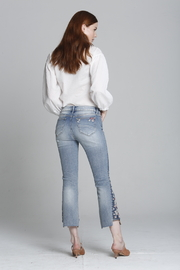 Driftwood Indie X Berry Jam Embroidered Jeans - Front full body