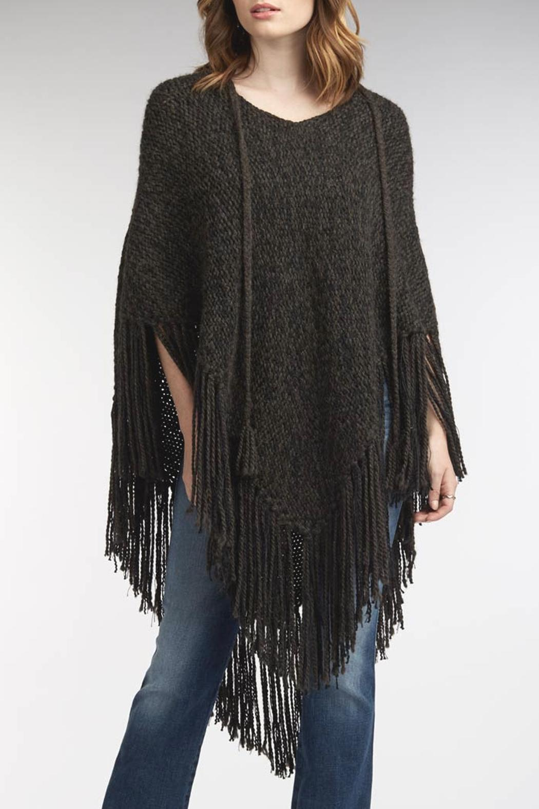 Indigenous Chic Fringe Poncho - Side Cropped Image