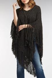 Indigenous Chic Fringe Poncho - Front full body