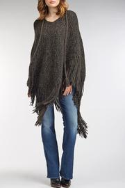Shoptiques Product: Chic Fringe Poncho - Front cropped