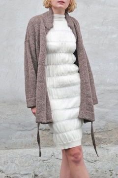 Shoptiques Product: Quilted Long  Cardigan