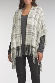 Indigenous Royal Plaid Shawl - Front full body
