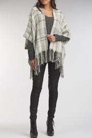 Indigenous Royal Plaid Shawl - Front cropped