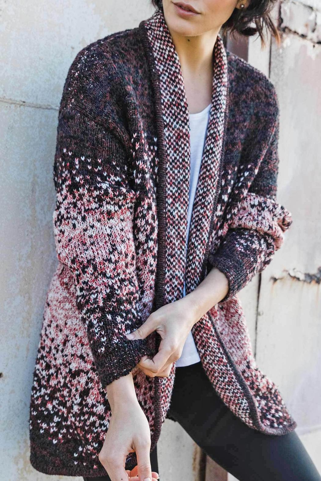 Indigenous Speckled Open Cardigan - Front Full Image