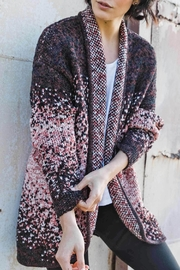 Indigenous Speckled Open Cardigan - Front full body