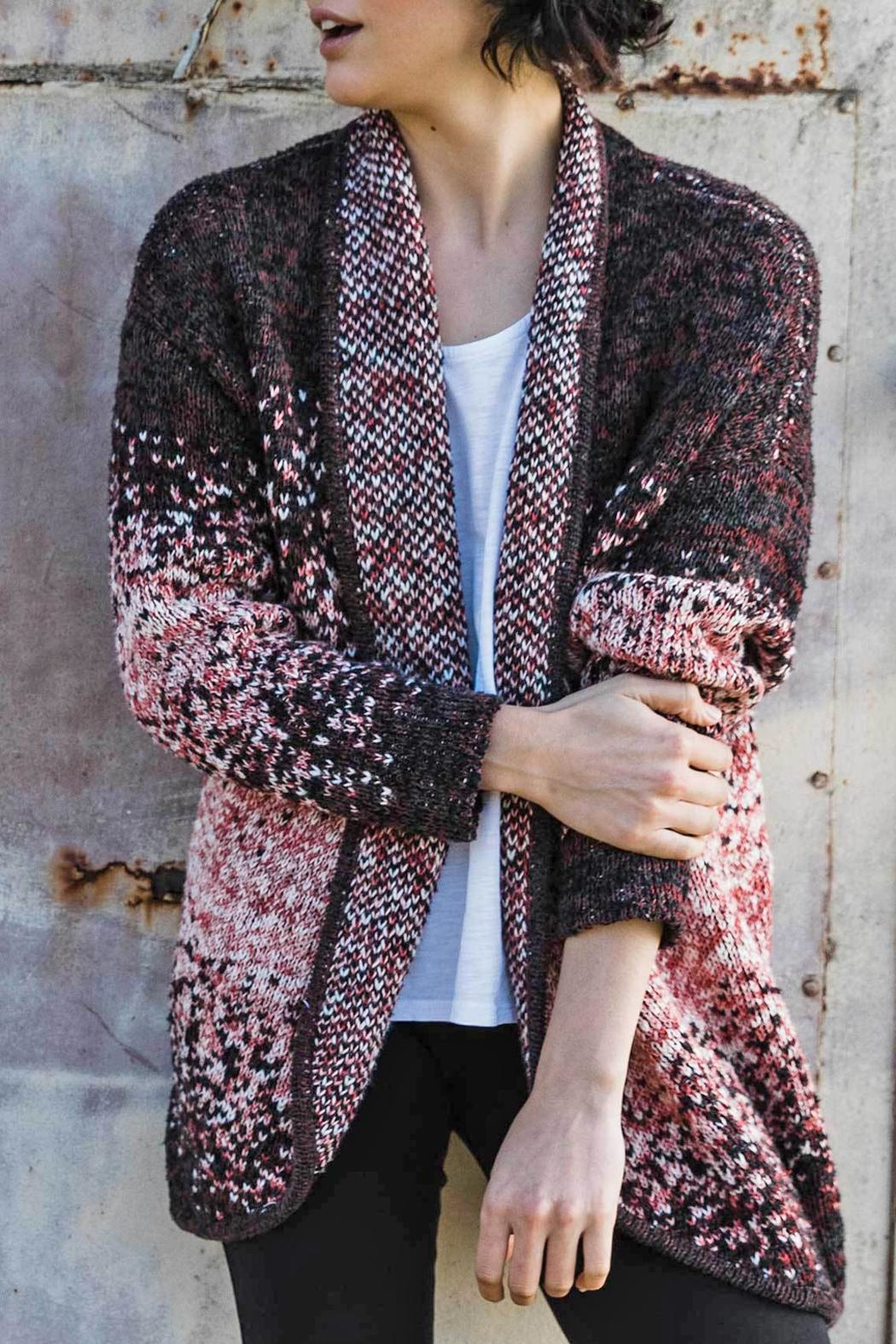 Indigenous Speckled Open Cardigan - Side Cropped Image