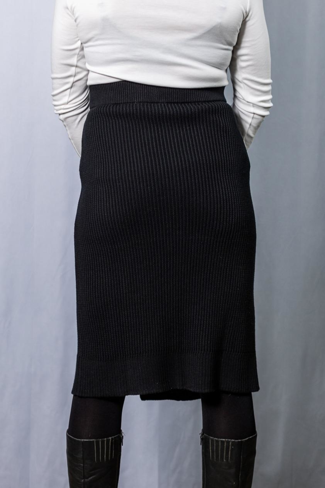 INDIGENOUS DESIGNS Cable Knit Skirt - Front Full Image