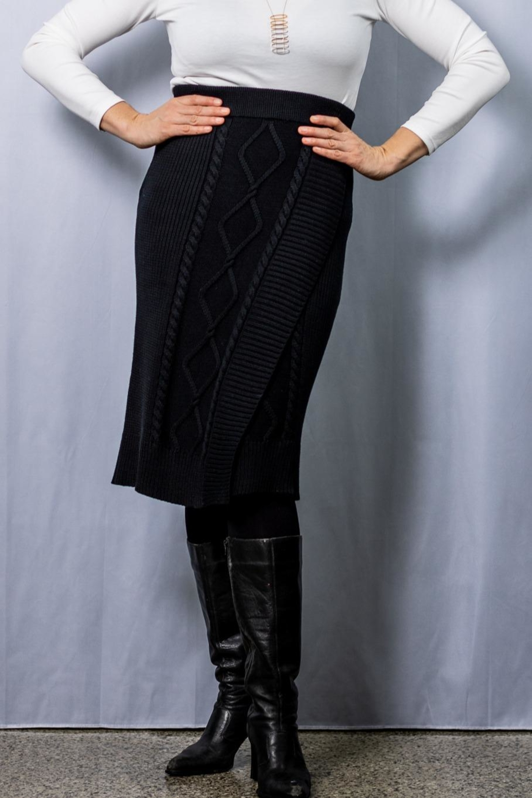 INDIGENOUS DESIGNS Cable Knit Skirt - Main Image